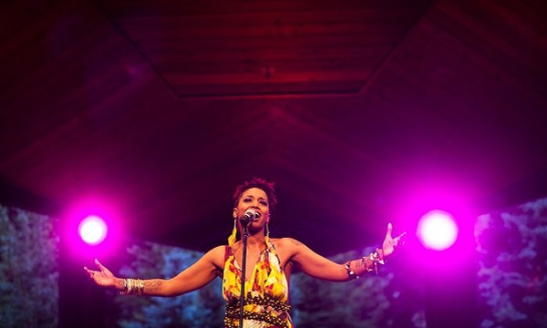 "Natalie ""The Floacist"" Stewart performs at the Vail Soul Music Fest"